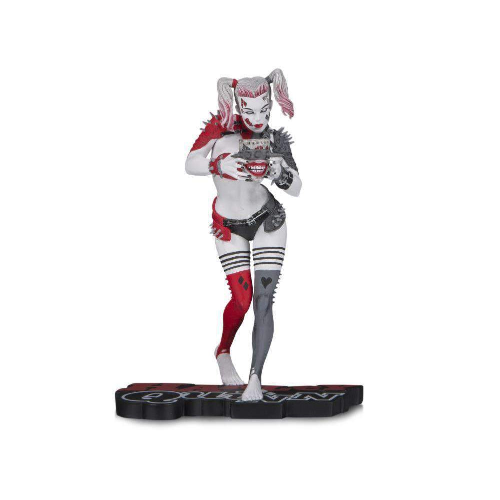 DC Comics Red White & Black Metal Harley Quinn Limited Edition Statue (Greg Horn) - OCTOBER 2019