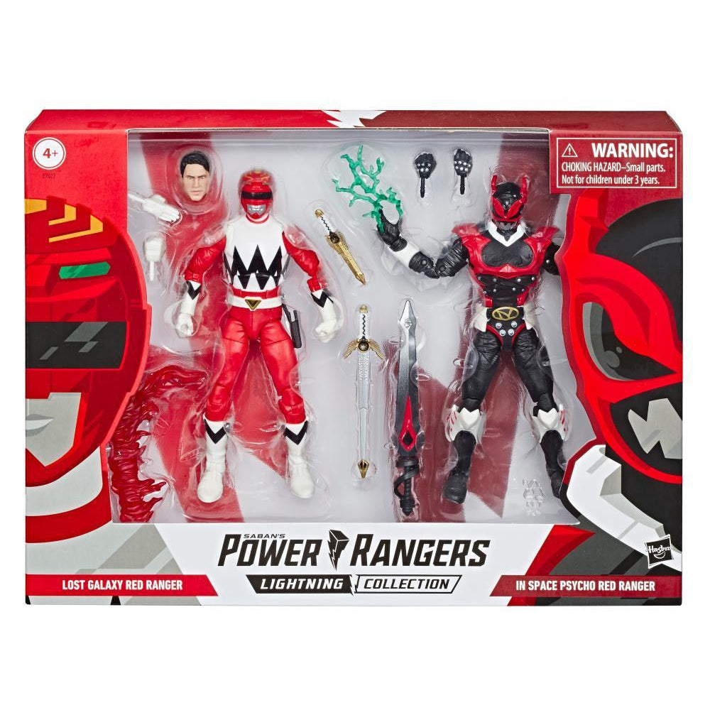 Power Rangers Lightning Collection Psycho Red Ranger and Lost Galaxy Red Ranger 2-Pack