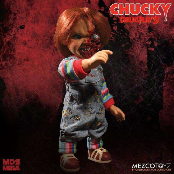 Child's Play 3 Mezco Designer Series Talking Pizza Face Chucky - Q4 2018