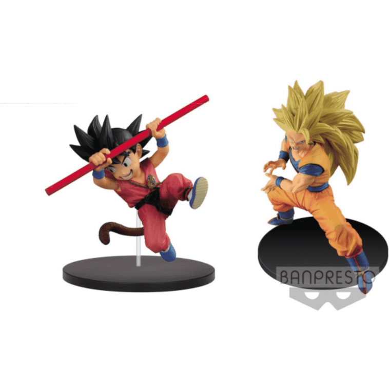 Dragon Ball Super FES!! Stage 4 Super Saiyan 3 Goku (Repaint) & Young Goku Set - By Banpresto - PRE-ORDER SHIPS APRIL 2018