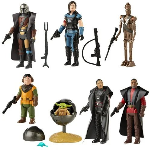 Star Wars The Mandalorian The Retro Collection Action Figures Wave 1 Set of 7 - MAY 2021