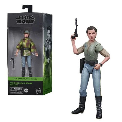 Star Wars The Black Series Princess Leia Organa (Endor Battle Poncho) 6-Inch Action Figure - OCTOBER 2020