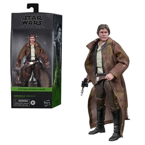 Star Wars The Black Series Han Solo (Endor Trenchcoat) 6-Inch Action Figure - OCTOBER 2020