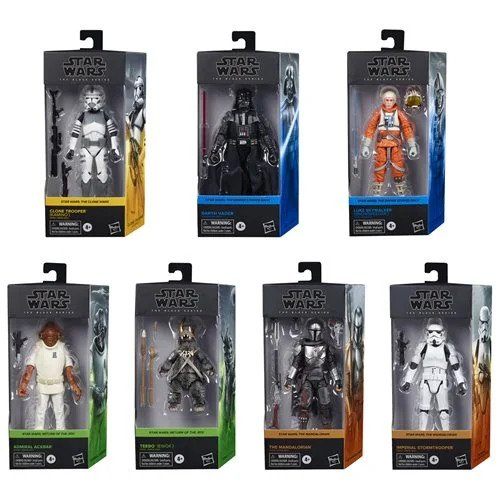 Star Wars The Black Series Wave 5 (2020) 6-Inch Action Figures Set of 7 - AUGUST 2020