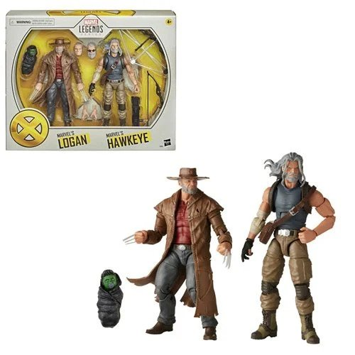 X-Men Marvel Legends Hawkeye and Logan 6-Inch Action Figures