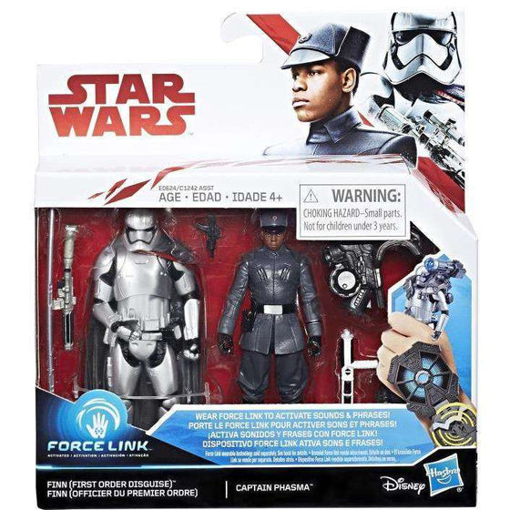 "Star Wars 3.75"" Force Link Finn Vs. Captain Phasma (The Last Jedi) Exclusive"