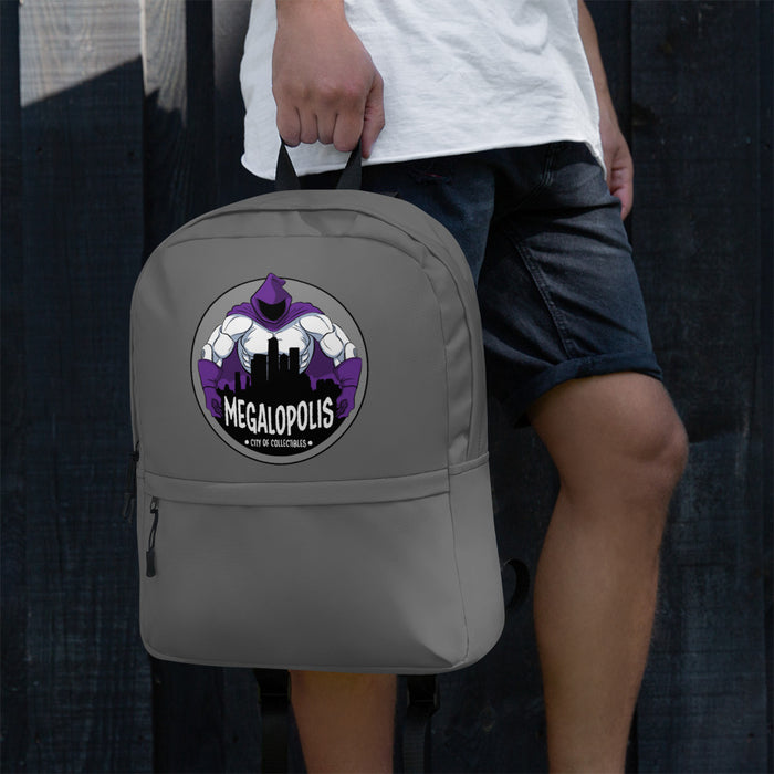 Megalopolis Logo Sport Backpack With Laptop Pocket