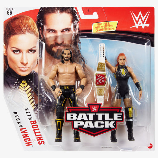 WWE Becky Lynch and Seth Rollins Basic Series 66 Action Figure 2-Pack - AUGUST 2020