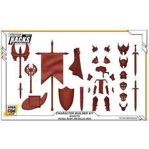Character Builder Kit - Knights - Royal Ruby Red