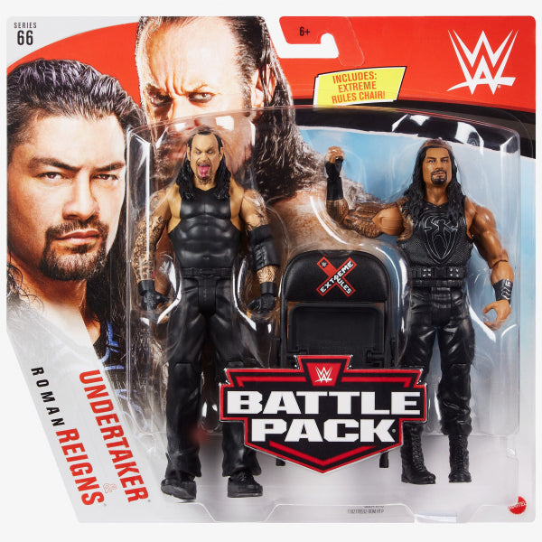 WWE Roman Reigns and Undertaker Basic Series 66 Action Figure 2-Pack - AUGUST 2020 - AUGUST 2020