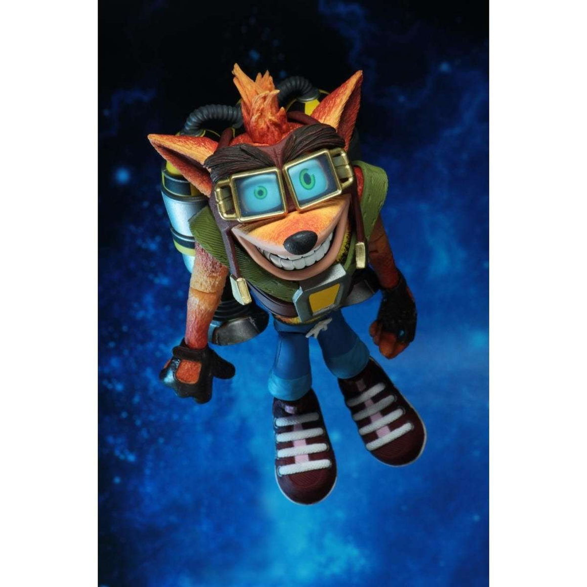 "Crash Bandicoot - 7"" Scale Action Figure - Deluxe Crash with Jetpack - NOVEMBER 2018"