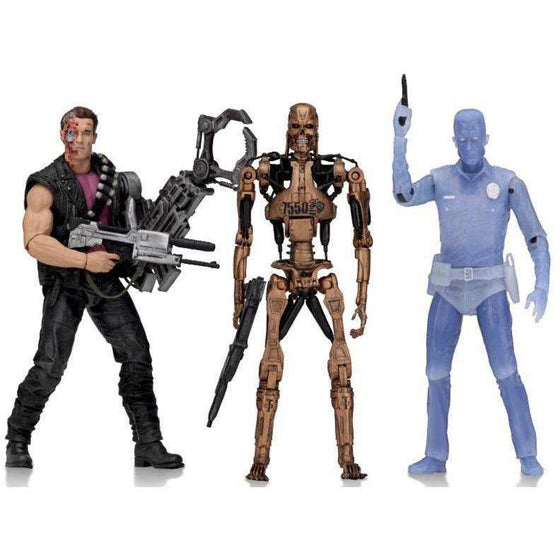 "Terminator 2 - 7"" Scale Action Figure - Kenner Tribute Set of 3"