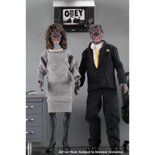 "They Live - 8"" Clothed Action Figures - 2 Pack"