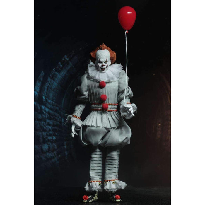 "IT - 8"" Clothed Action Figure - Pennywise (2017)"