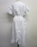 RUFFLED COTTON DRESS