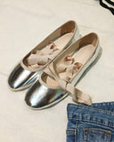 DETACHABLE RIBBON BALLERINA FLATS