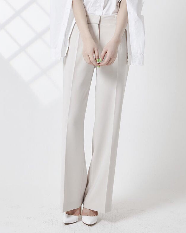 WIDE PINTUCK TROUSERS
