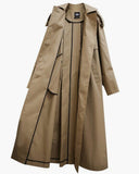 EYELET BUTTON LONG TRENCH COAT