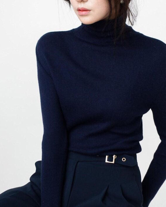 BASIC RIBBED TURTLE NECK