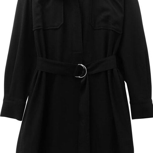 WOOLEN BELTED DRESS