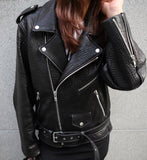 LUXE BUBBLE LEATHER JACKET