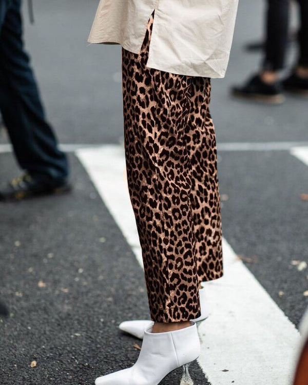 RELAXED LEOPARD PANTS