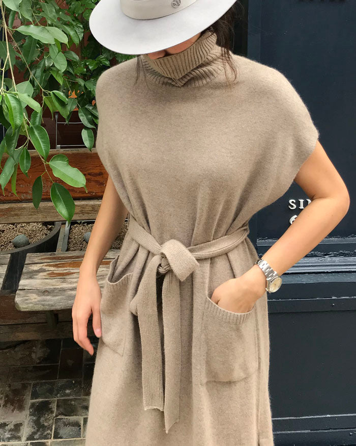 LUXE CASHMERE KNIT DRESS