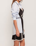 CONTRAST SLIP SHIRT DRESS