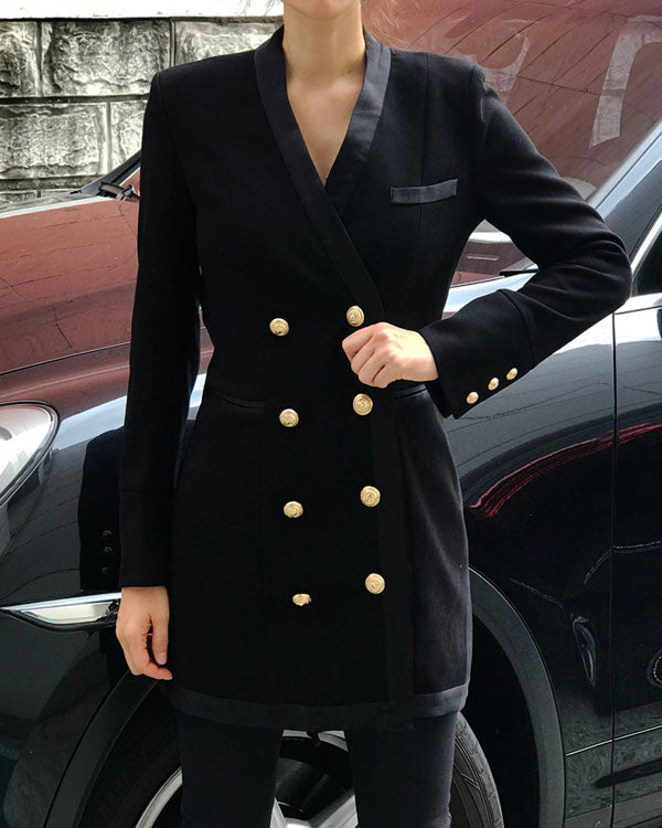 STRUCTURED BLAZER DRESS - 2 COLORS