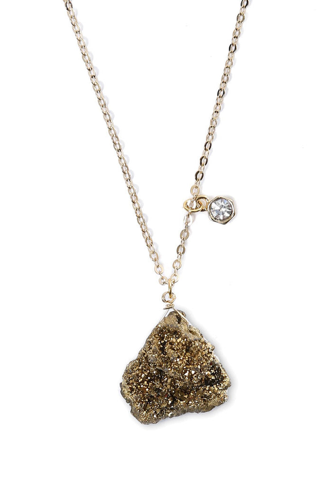 DRUZY & CRYSTAL NECKLACE