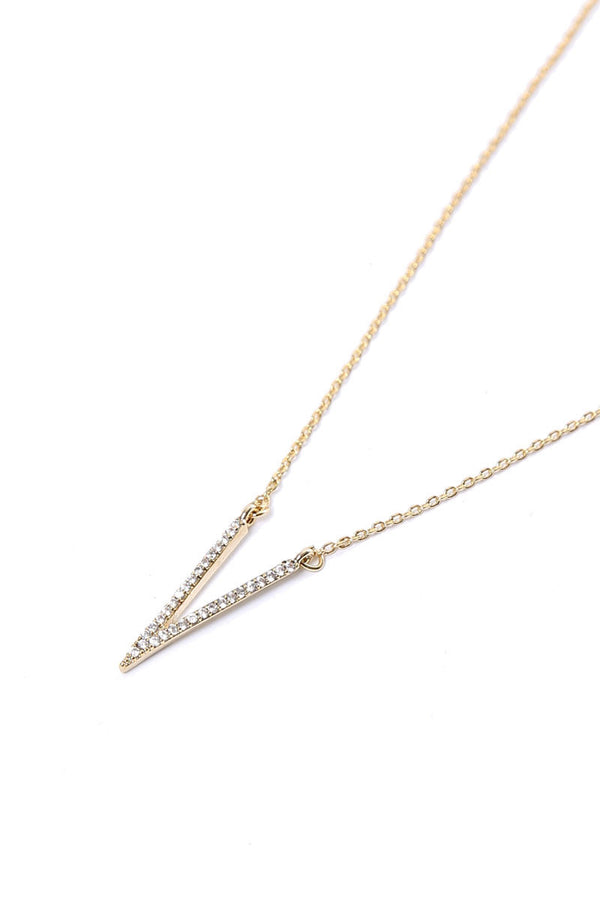 CRYSTAL SPIKE NECKLACE