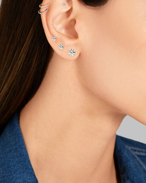 SINGLE STUD EARRING - 4 SIZES