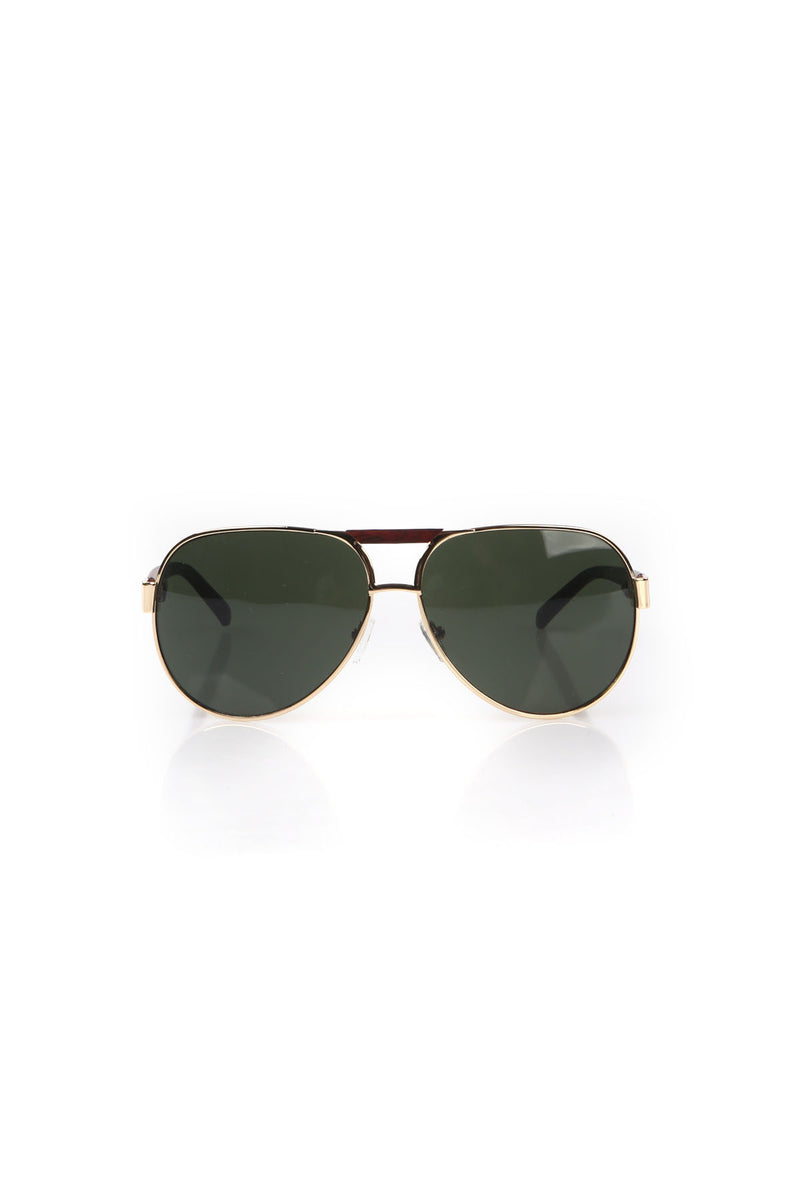 WOODEN BRIDGE AVIATOR SUNGLASSES