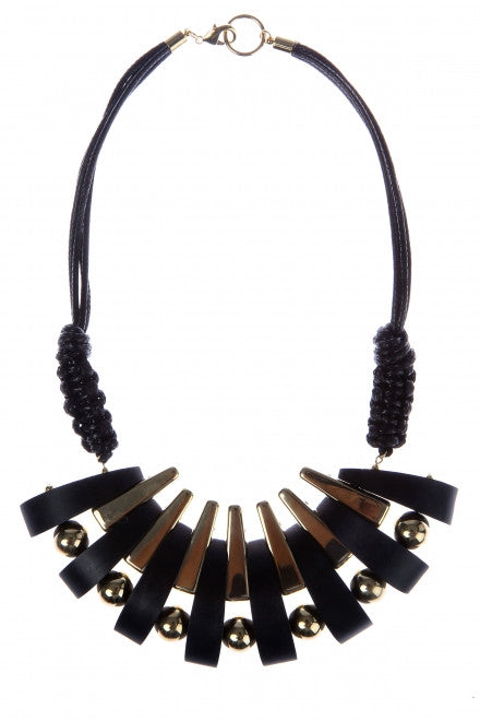 WOODEN BIB NECKLACE