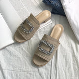 SQUARE CRYSTAL SANDALS - 2 COLORS