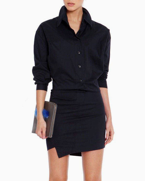 [EDITOR'S PICK] ASYMMETRIC SHIRT DRESS