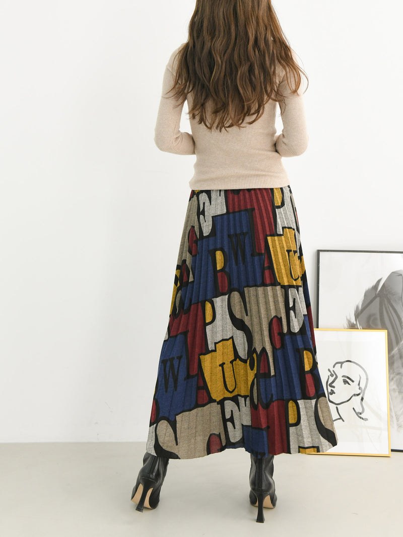 PLEATED PUZZLE SKIRT