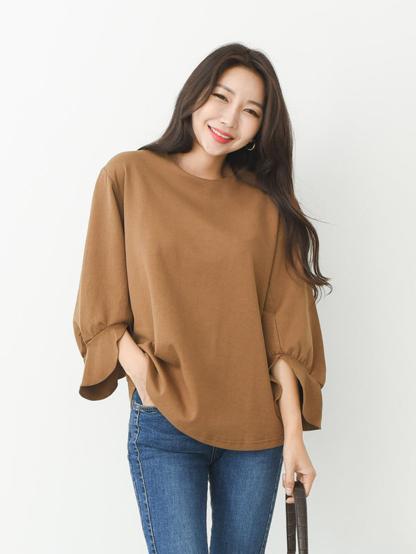 FLARED CUFF BLOUSE
