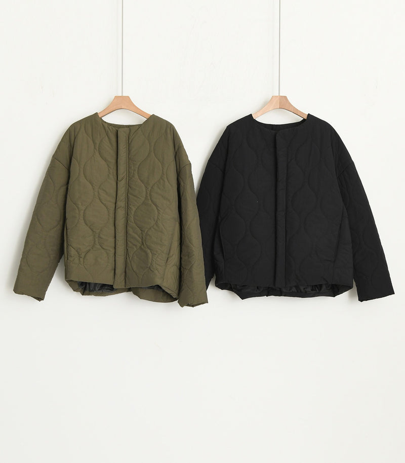 ROUND NECK ZIP JACKET