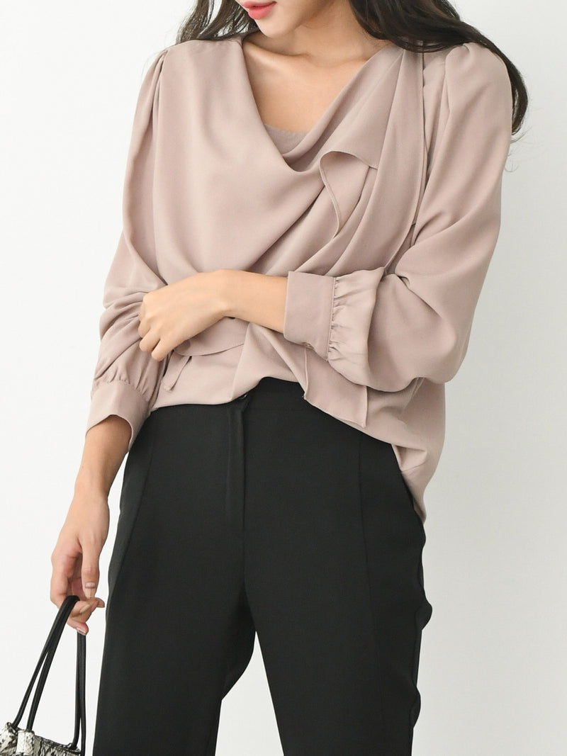 SHAWL COLLAR BLOUSE