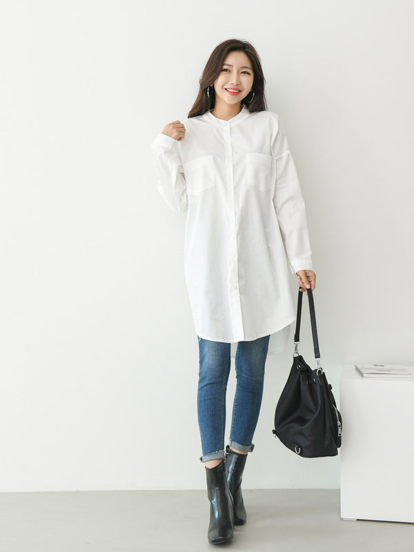 DOUBLE POCKET COTTON TUNIC