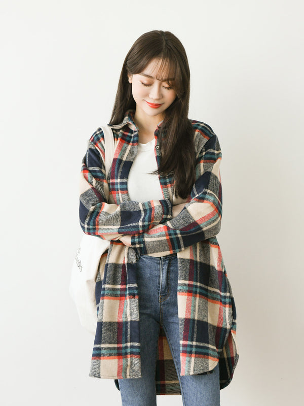 OVERSIZE BOYFRIEND CHECK SHIRT