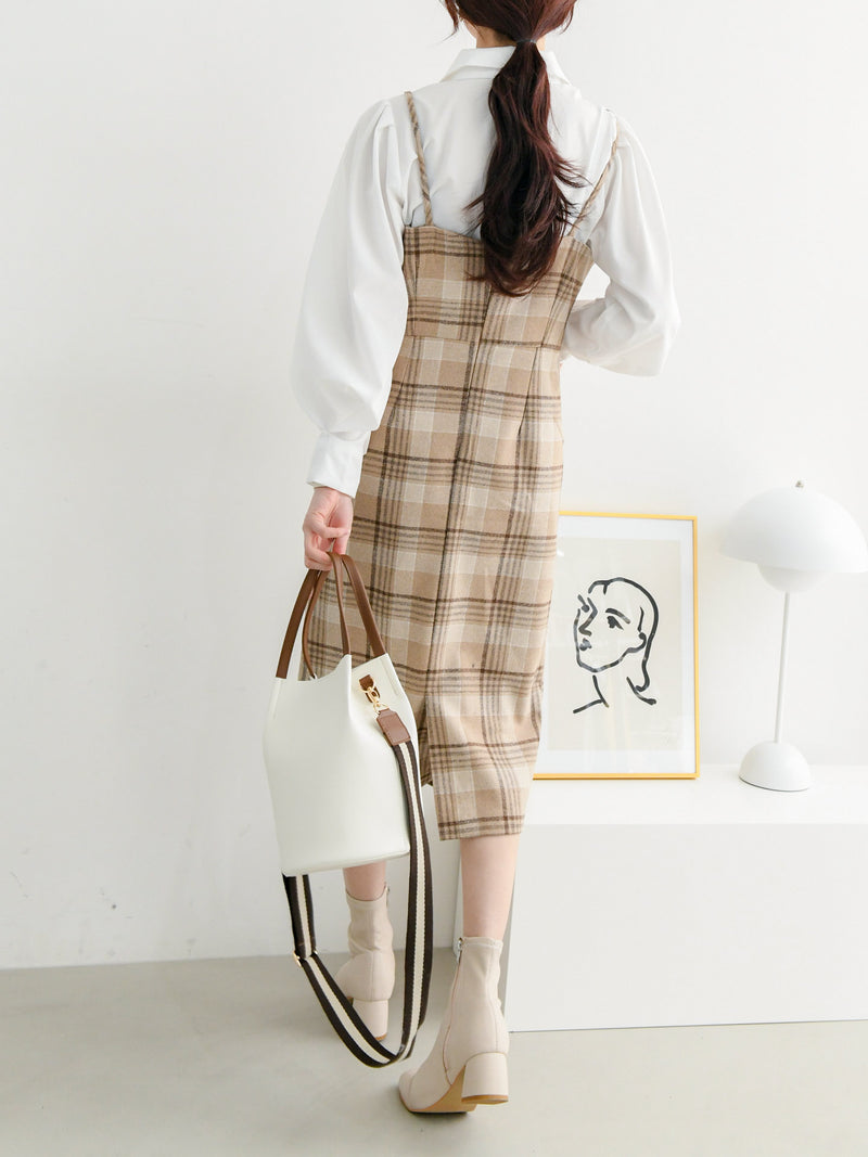 CHECK WOOLEN DRESS
