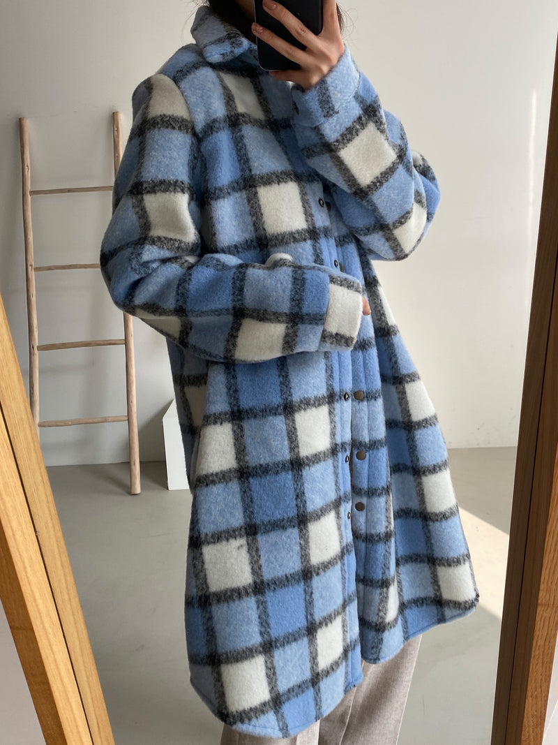 OVERSIZED FLEECE PLAID SHIRT