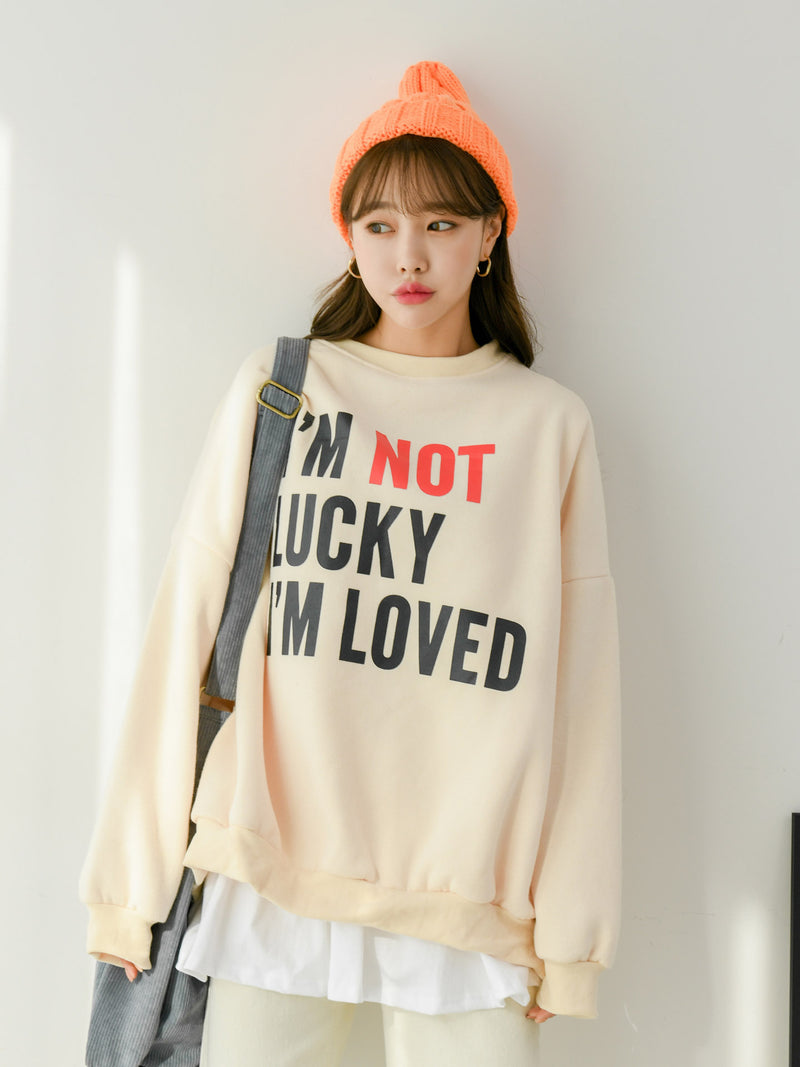 PRINTED LUCKY LOVE SWEATSHIRT