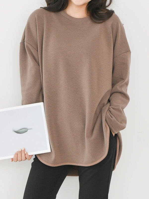 OVERSIZED LOOSE FIT LONG SWEATSHIRT