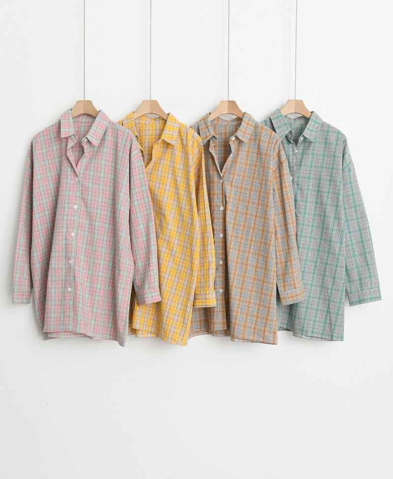 CLASSIC OVERSIZED CHECK SHIRT
