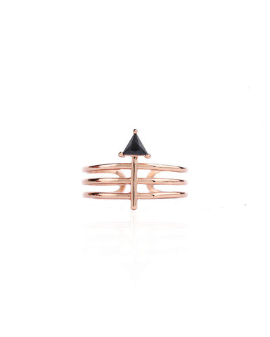 [LAUREL] ARROW CAGE RING
