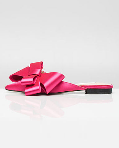 SATIN BOW MULE