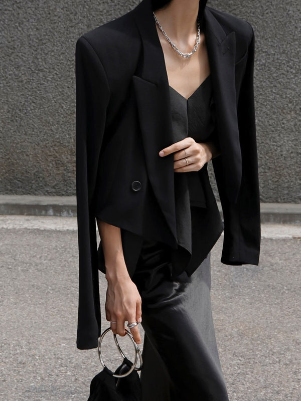 SUMMER CROPPED CREPE BLAZER